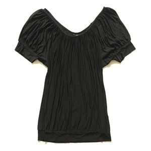 H&M • Made in Italy Rouche Draped Blouse